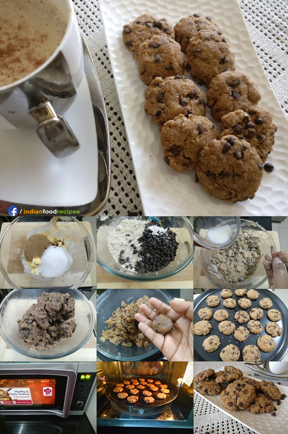 Chocochip Cookies Eggless recipe step by step