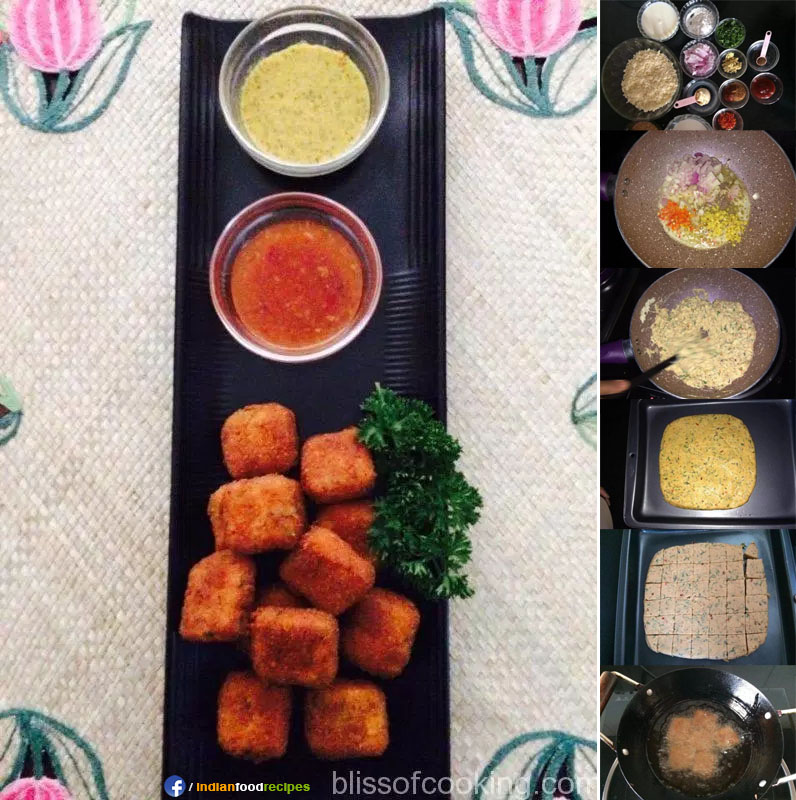 Paneer Nuggets (Cottage Cheese Nuggets) recipe step by step