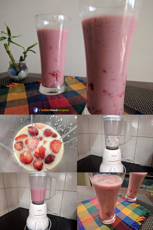 Strawberry Milkshake recipe step by step